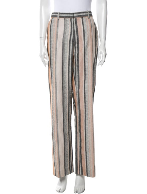 Rosetta Getty Striped Wide Leg Pants