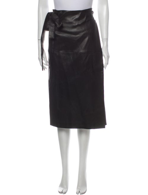 Rosetta Getty Midi Length Skirt Black