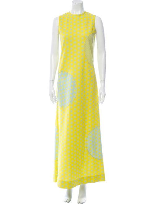 Rudi Gernreich Printed Long Dress Green