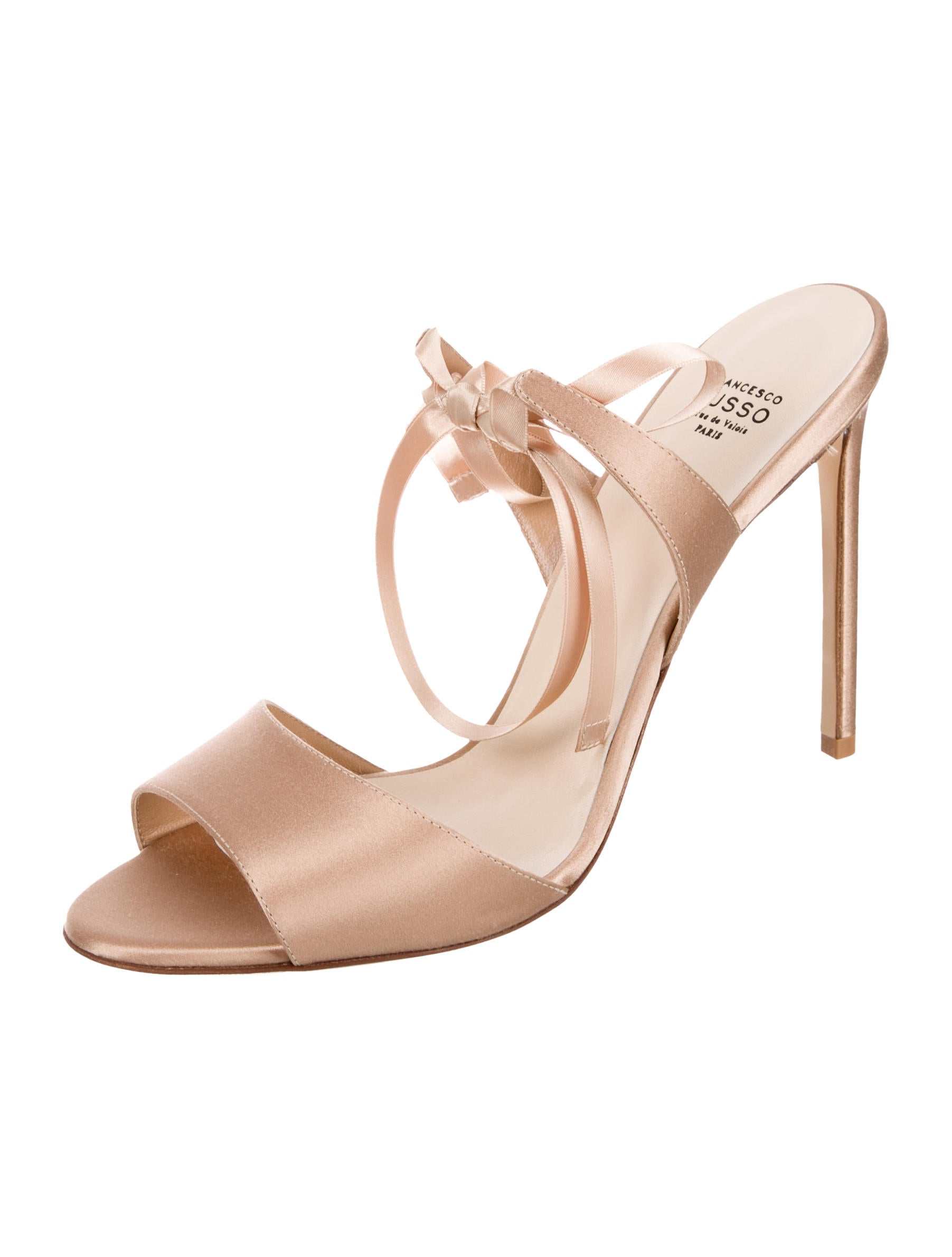 Cheapest for sale pictures Francesco Russo Lace-Up Satin Sandals w/ Tags cheap sale outlet store tNITIbtt