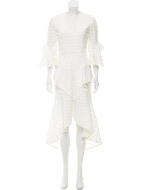 Rebecca Vallance Flared Evening Dress