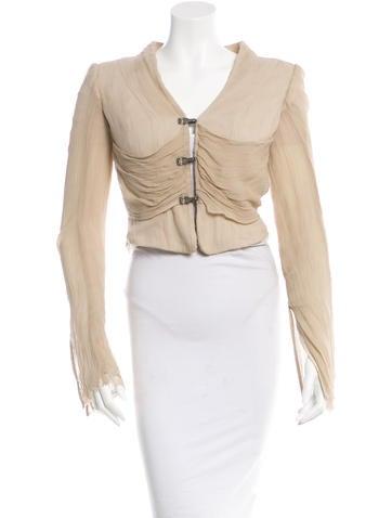 Revillon Long Sleeve Silk Jacket