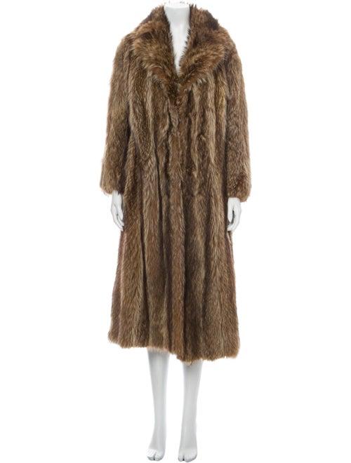 Revillon Faux Fur Coat Brown