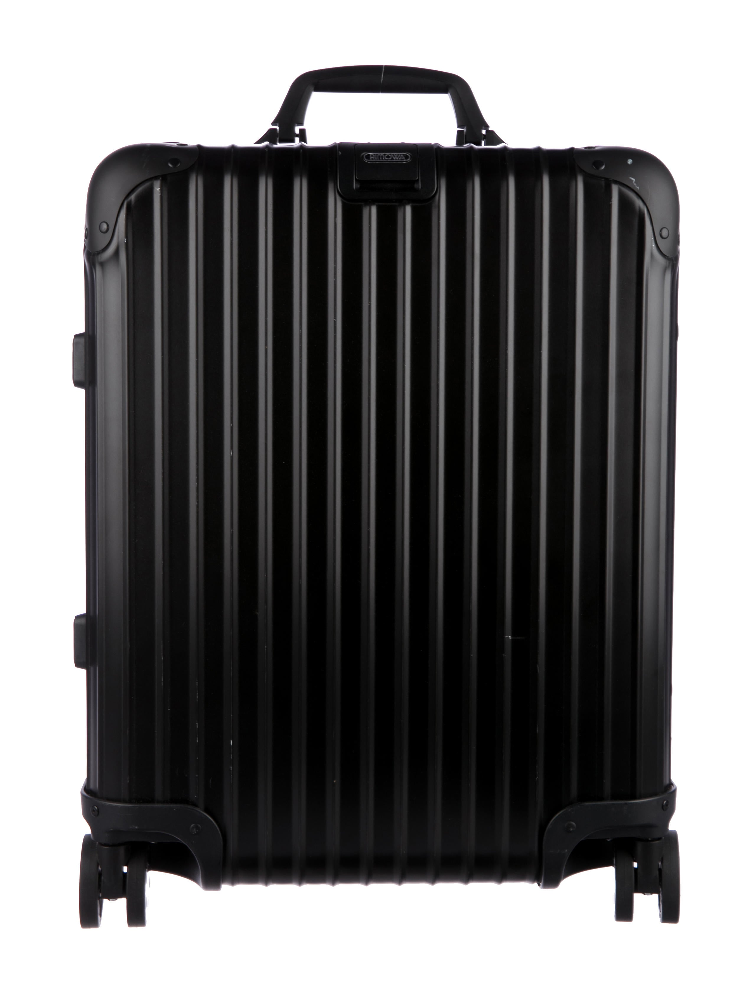 rimowa topas stealth hardshell suitcase luggage rwa20129 the realreal. Black Bedroom Furniture Sets. Home Design Ideas