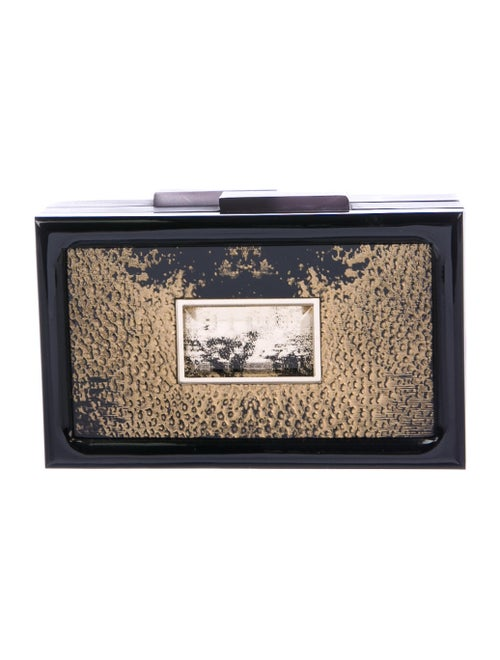 Rauwolf Metallic Box Clutch Black