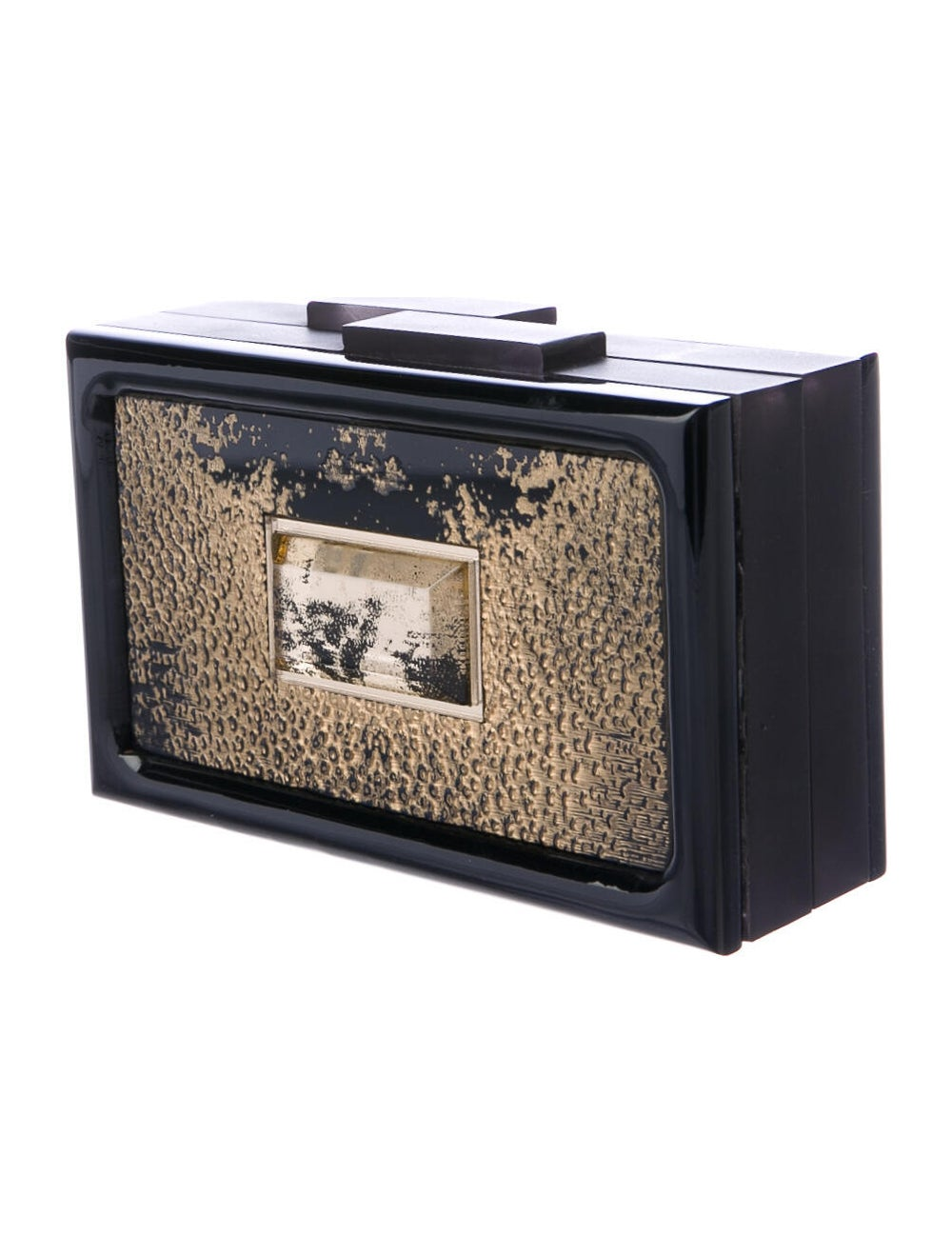 Rauwolf Metallic Box Clutch Black - image 3