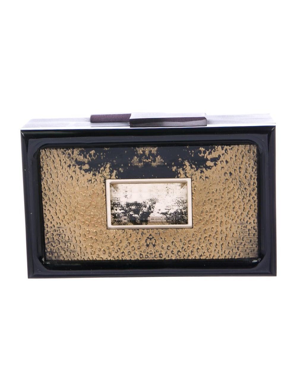 Rauwolf Metallic Box Clutch Black - image 4