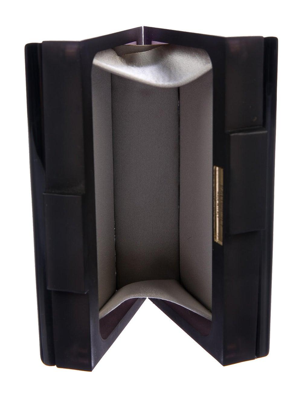 Rauwolf Metallic Box Clutch Black - image 5