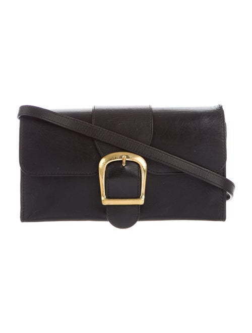 Rylan Leather Crossbody Bag Black