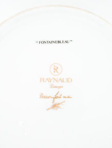Fountainebleau Gold Plate