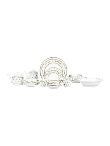 Raynaud 92-Piece Histoire de Roses Partial-Dinner Service None