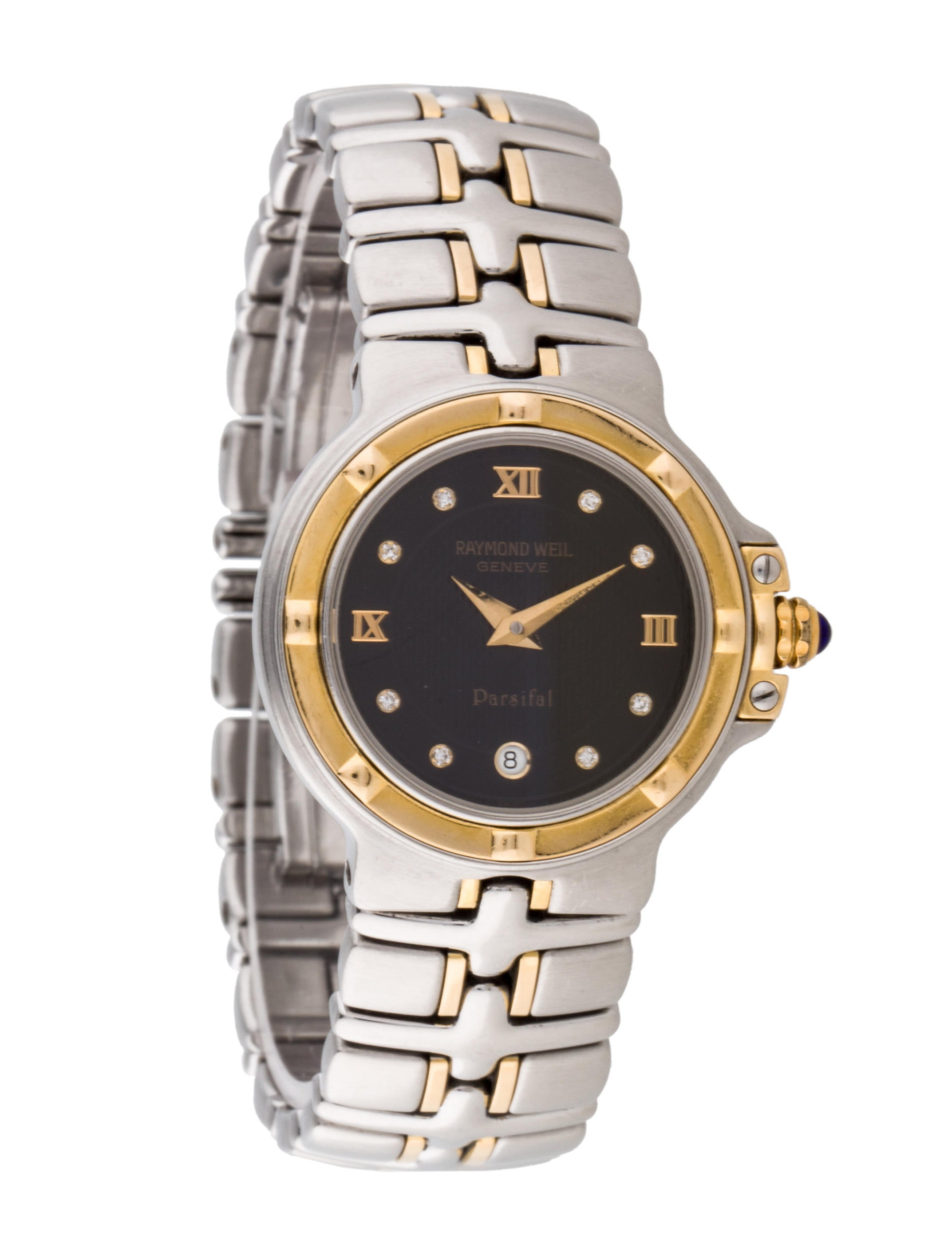 Raymond weil two tone parsifal 9990 watch bracelet ryw20156 the realreal for Raymond watches