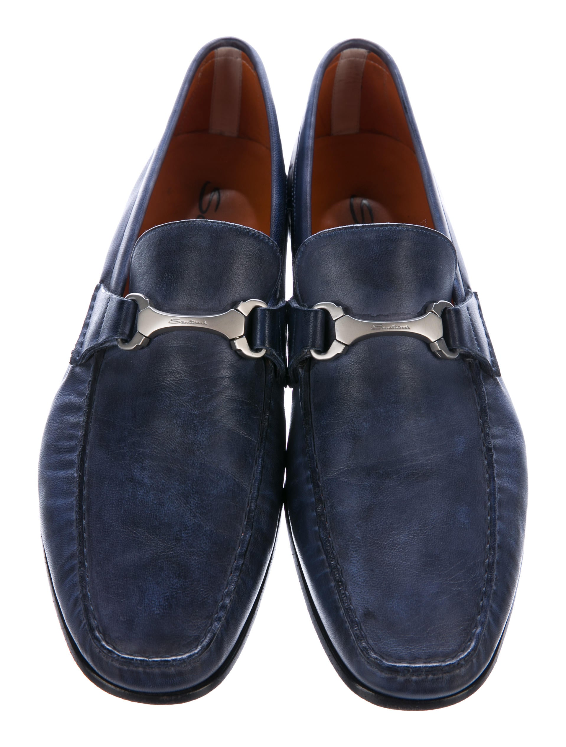 santoni leather dress loafers shoes sai20325 the