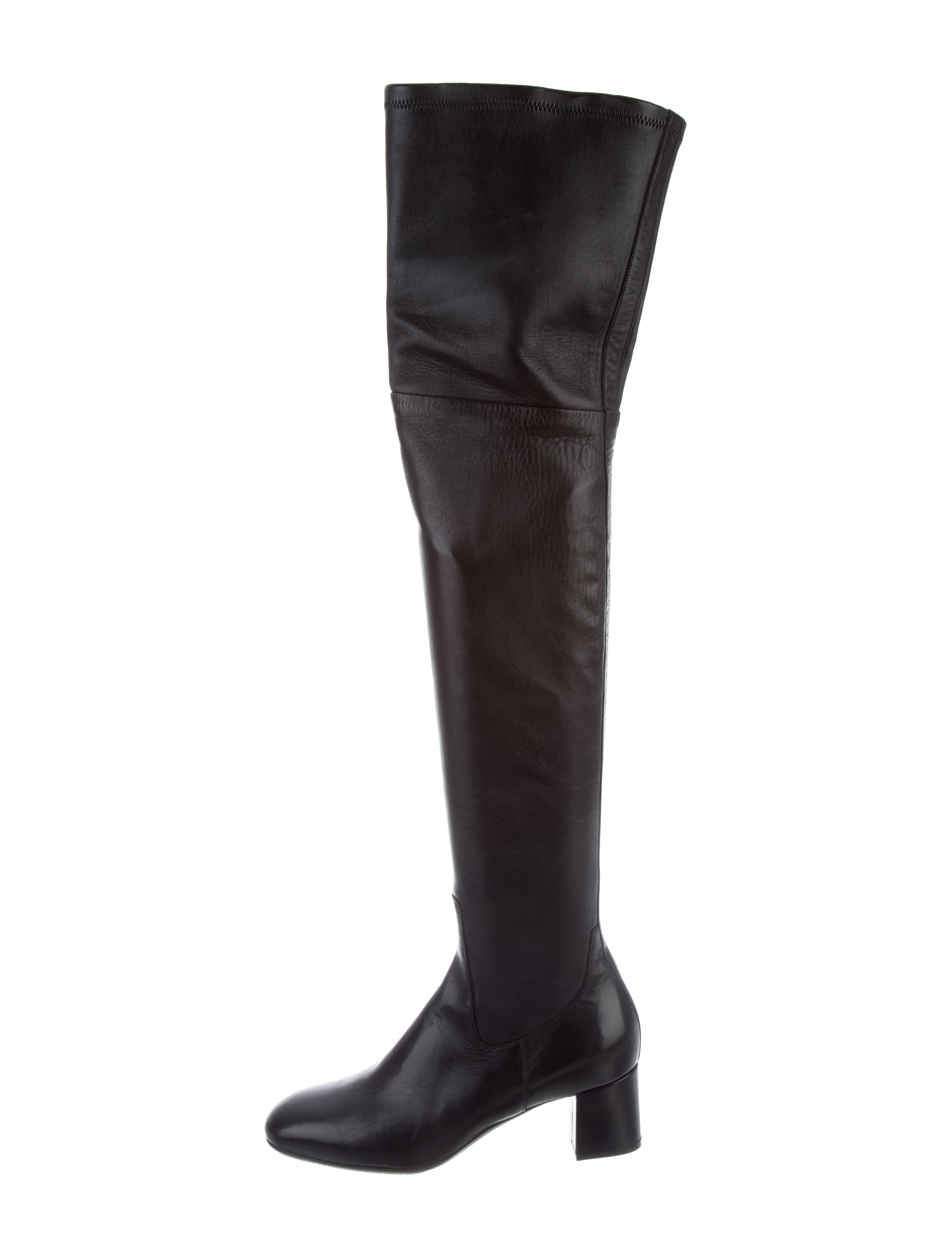 Santoni Leather Over-The-Knee Boots w/ Tags low shipping fee online buy cheap prices 0lMsozSms