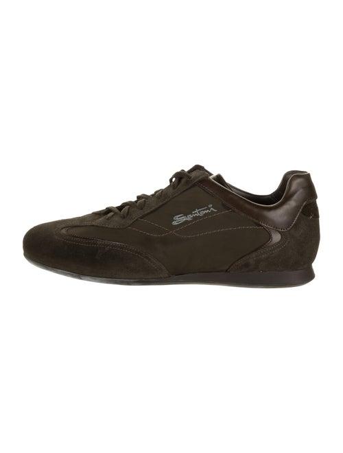 Santoni Suede Low-Top Sneakers brown