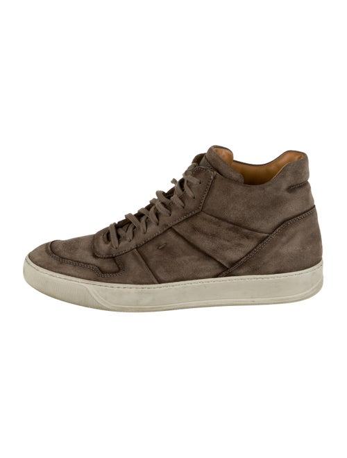 Santoni Suede High-Top Sneakers