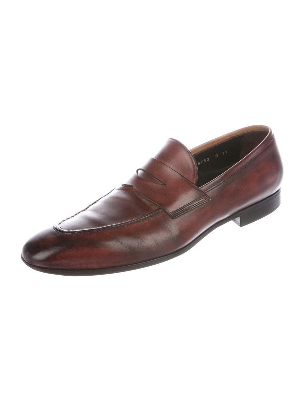 Santoni Leather Penny Loafers brown - image 2