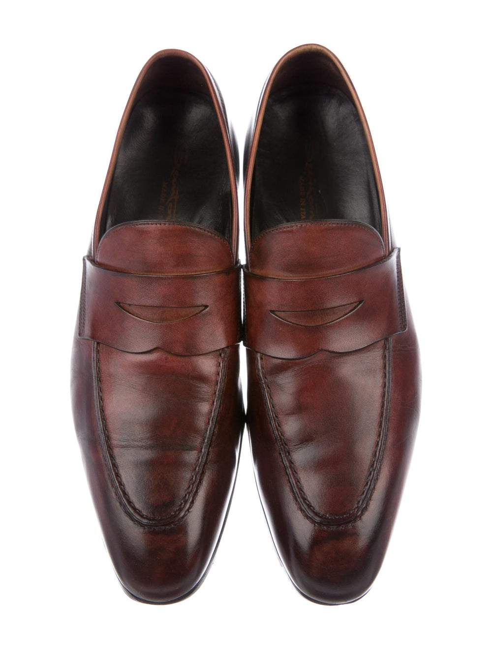 Santoni Leather Penny Loafers brown - image 3