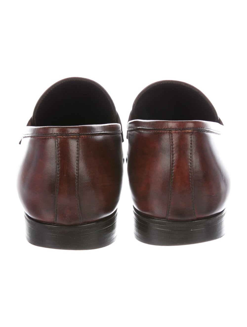 Santoni Leather Penny Loafers brown - image 4