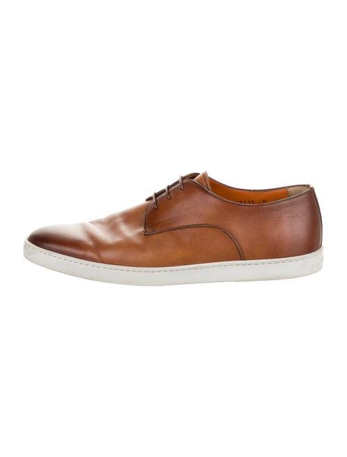 Santoni Leather Derby Shoes Brown
