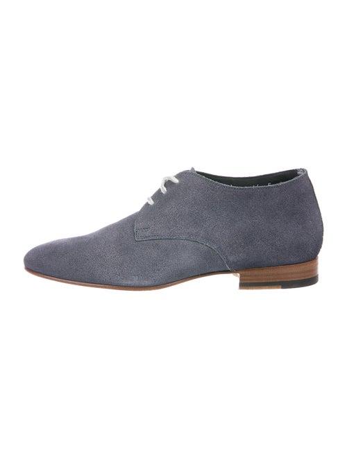 Santoni Suede Derby Shoes Blue