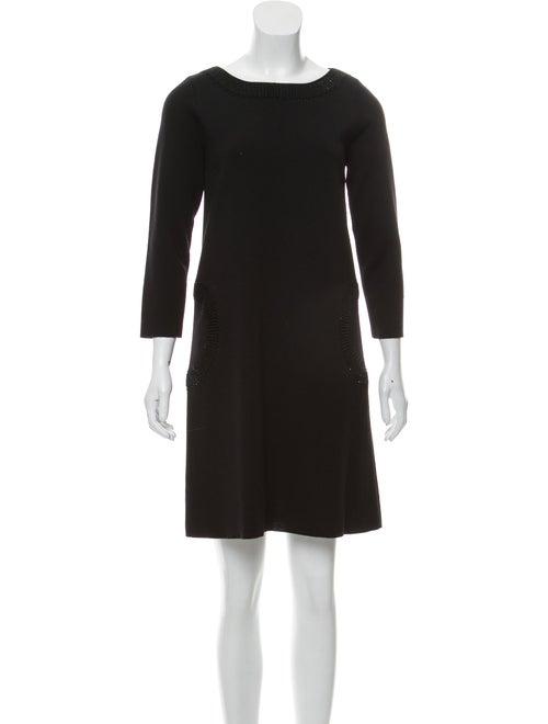 Salvatore Ferragamo Wool Sweater Dress Black