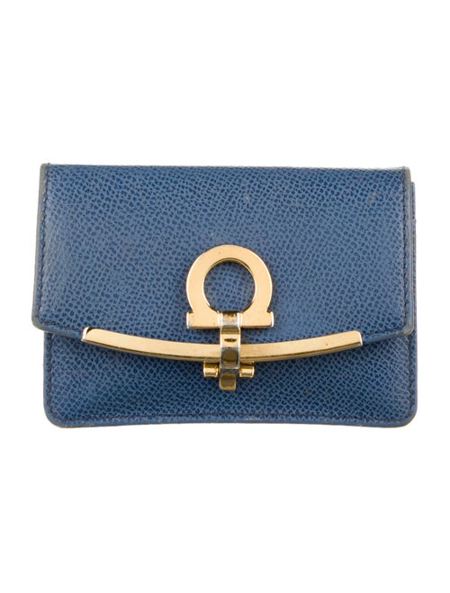 Salvatore Ferragamo Gusset Card Case gold