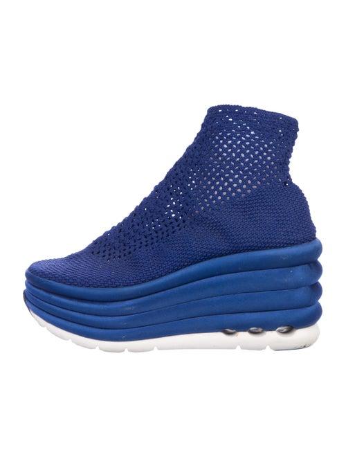 Salvatore Ferragamo Platform High-Top Sneakers Blu