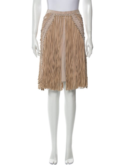 Salvatore Ferragamo Suede Knee-Length Skirt