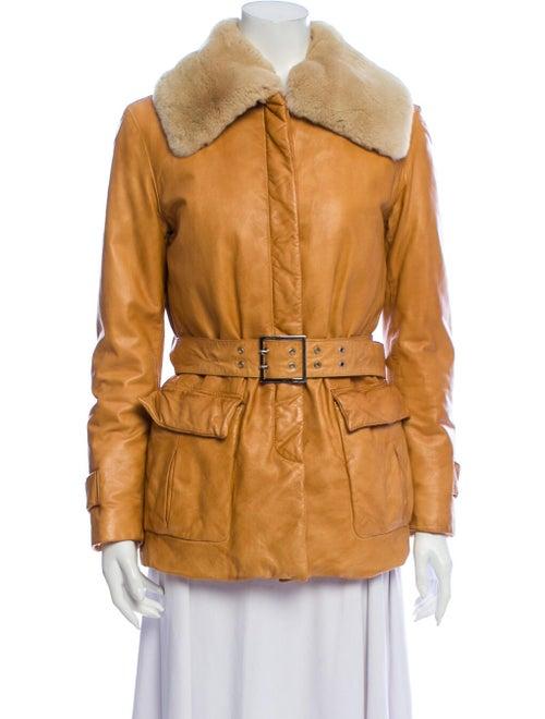 Salvatore Ferragamo Leather Biker Jacket