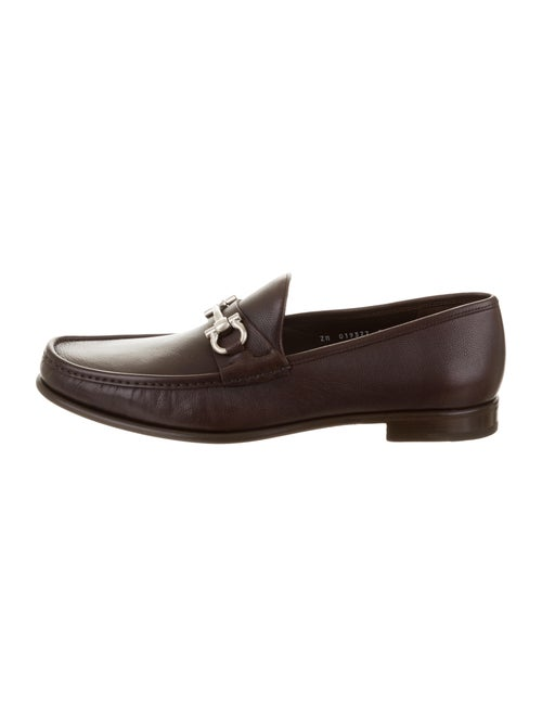 Salvatore Ferragamo Leather Gancini Loafers