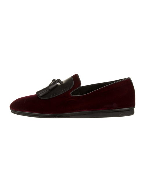 Salvatore Ferragamo Velvet Smoking Slippers