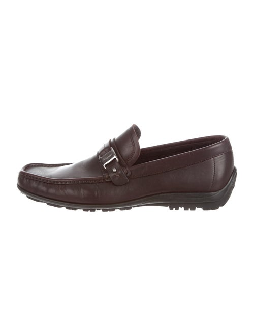 Salvatore Ferragamo Leather Moccasin Loafers brown