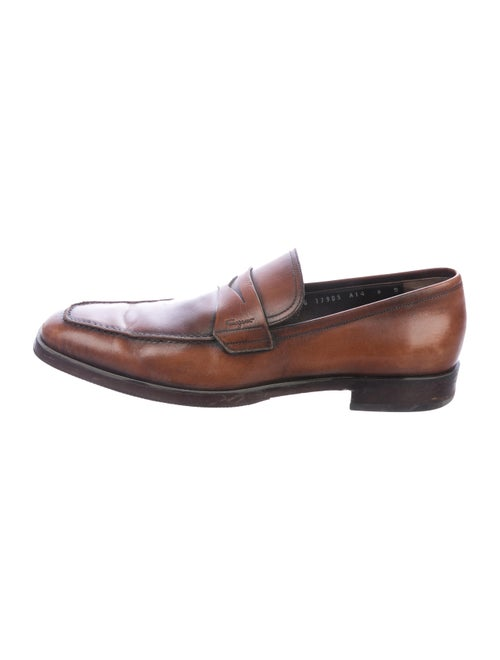 Salvatore Ferragamo Leather Penny Loafers brown