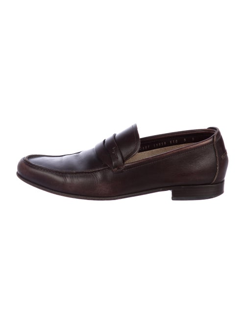 Salvatore Ferragamo Leather Penny Loafers