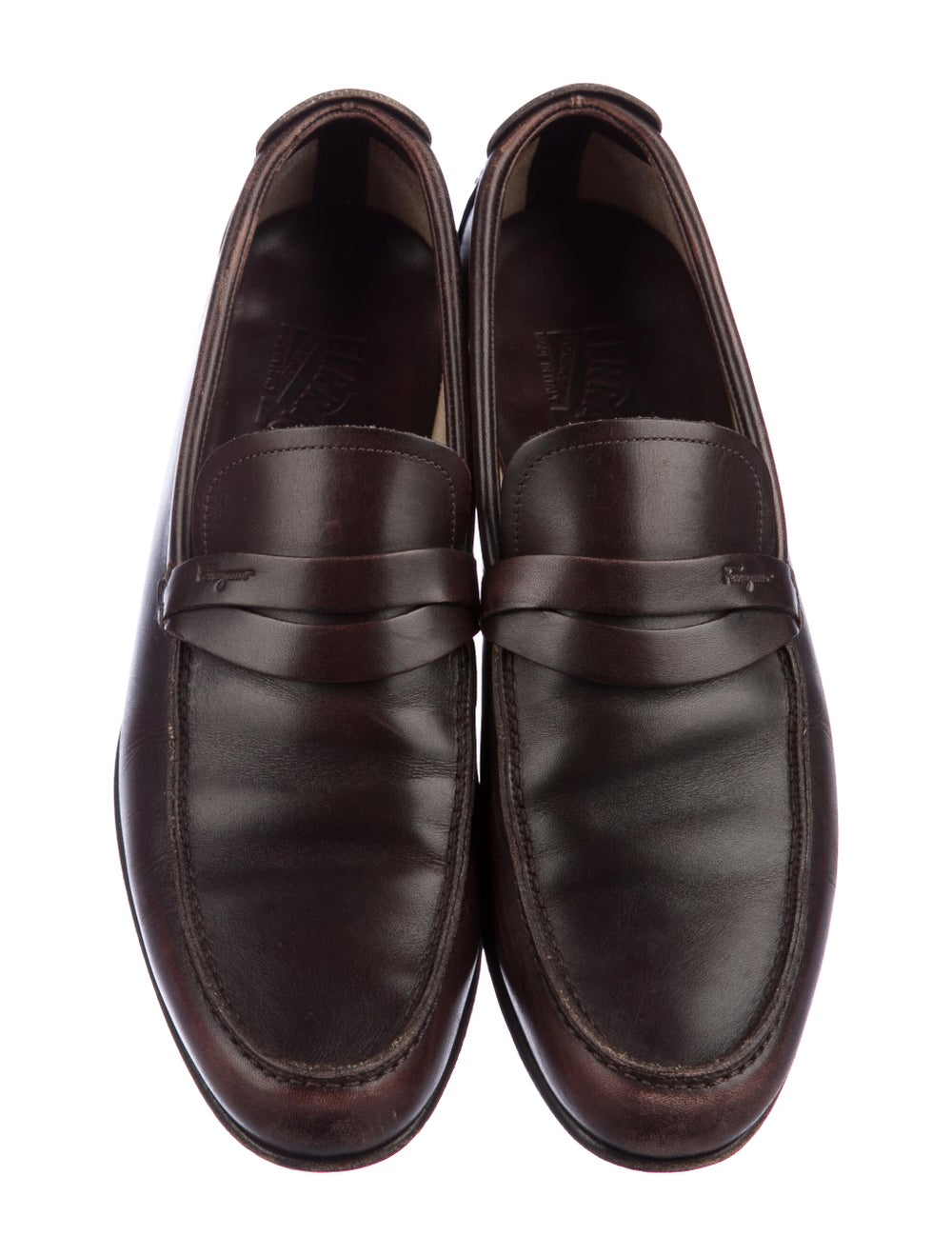 Salvatore Ferragamo Leather Penny Loafers - image 3
