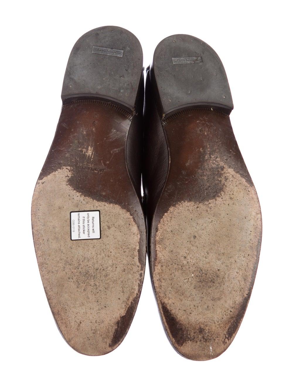 Salvatore Ferragamo Leather Penny Loafers - image 5