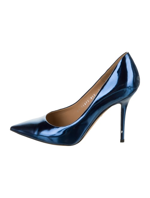 Salvatore Ferragamo Leather Pumps Blue