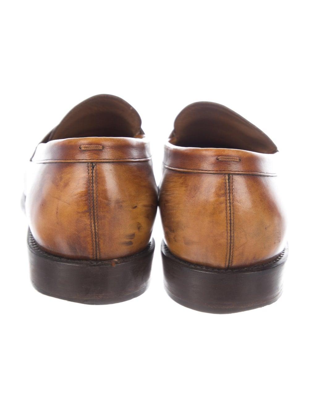 Salvatore Ferragamo Leather Penny Loafers - image 4