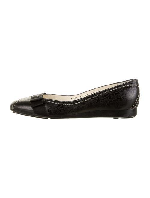 Salvatore Ferragamo Leather Ballet Flats Black