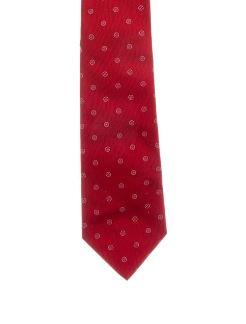 Salvatore Ferragamo Patterned Silk Tie red