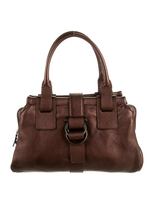 Salvatore Ferragamo Leather Shoulder Bag Brown