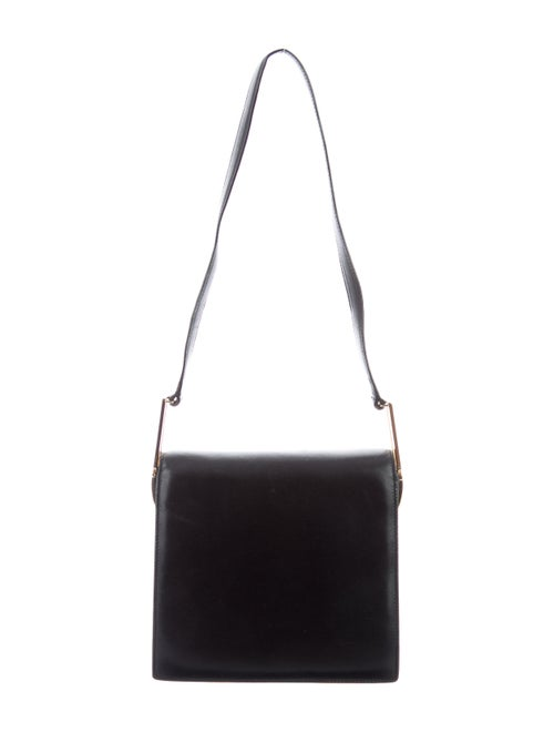 Salvatore Ferragamo Leather Shoulder Bag Black