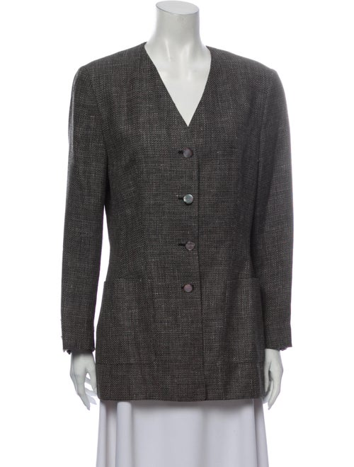 Salvatore Ferragamo Linen Evening Jacket Grey - image 1