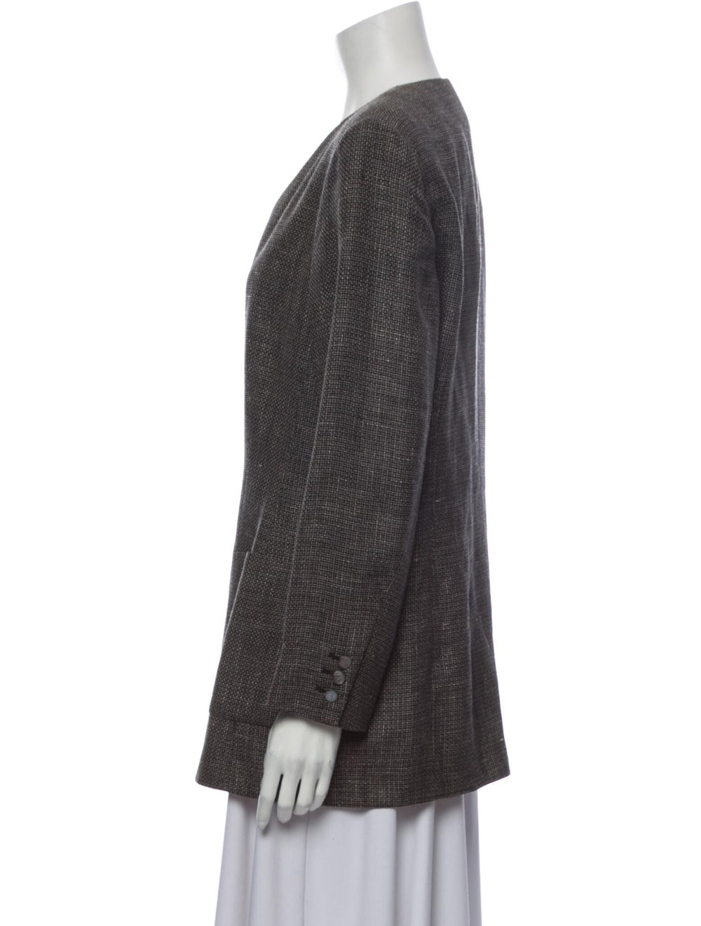 Salvatore Ferragamo Linen Evening Jacket Grey - image 2