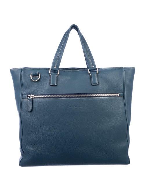 Salvatore Ferragamo Leather Tote Blue