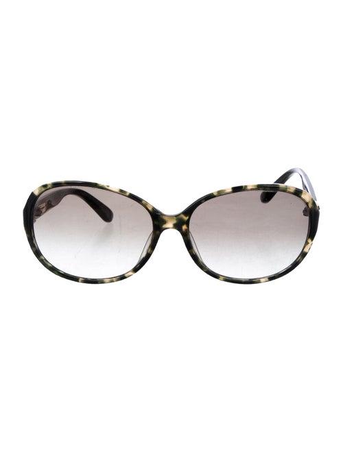 Salvatore Ferragamo Round Gradient Sunglasses Oliv