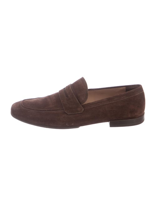 Salvatore Ferragamo Suede Dress Loafers Brown