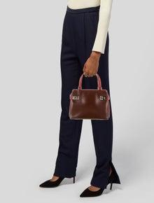 Salvatore Ferragamo Two-Tone Leather Handle Bag