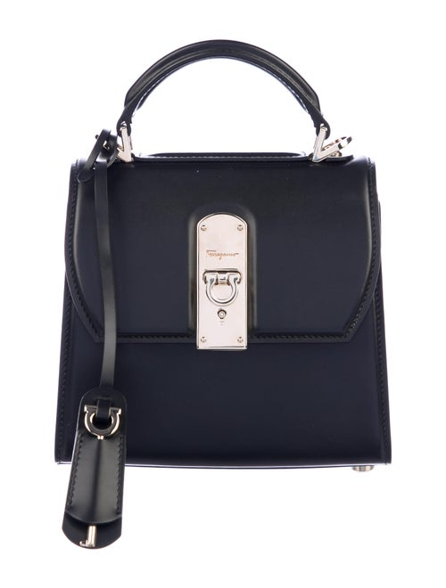 Salvatore Ferragamo Leather Boxyz Bag Black
